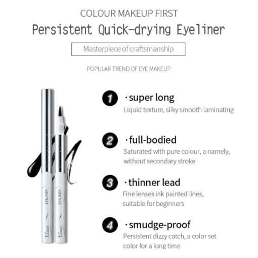 E3014 – Pudaier 5D Quick Drying Waterproof Eyeliner Pen – Black