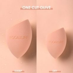 FA 136 – Focallure MATCHMAX Latex-Free Beauty Blender - Once Cut Olive Shape