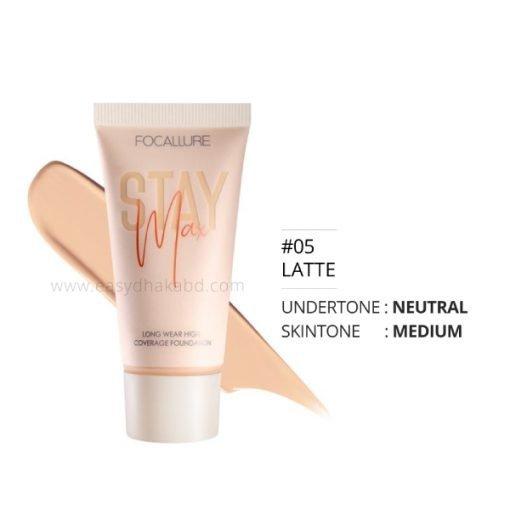 Shade 05 Latte - FA 150 – Focallure STAYMAX Pore Blurring Matte Flowless Foundation (20 g)