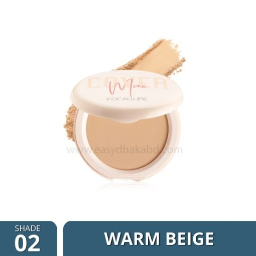 FA 155 – Focallure COVERMAX Two-Way-Cake Pressed Powder Shade 2