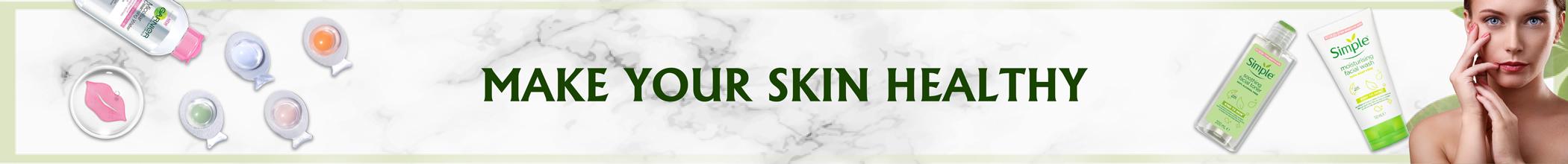 Skin Care Long Banner