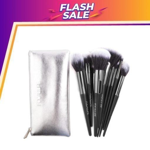 FA 70 -Focallure 10 Pcs Premium Makeup Brush Set with Leather Bag