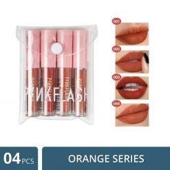 PinkFlash Orange Series Lipstick - 4 Pcs