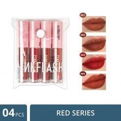 PinkFlash Red Serise Lipstick - 4 Pcs